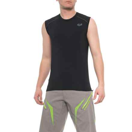 caef8439a67 Fox Racing First Layer Cycling Jersey - Sleeveless (For Men) in Black -  Closeouts