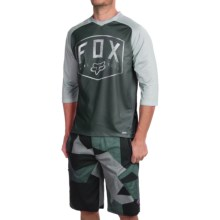 Fox Racing Flow Cycling Jersey - 3/4 Sleeve (For Men) in Black - Closeouts