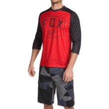 Fox Racing Flow Cycling Jersey - 3/4 Sleeve (For Men) in Red - Closeouts