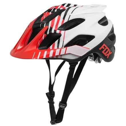 Fox Racing Flux Savant Bike Helmet (For Men) in Red/White - Closeouts