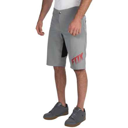 Fox Racing Indicator Bike Shorts (For Men) in Gray - Closeouts