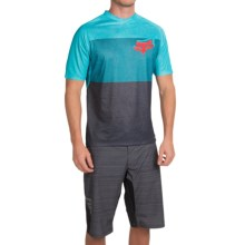 Fox Racing Indicator Cycling Jersey - Short Sleeve (For Men) in Aqua - Closeouts