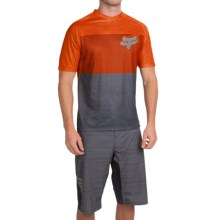 Fox Racing Indicator Cycling Jersey - Short Sleeve (For Men) in Orange - Closeouts