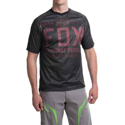 Fox Racing Indicator Jersey - Short Sleeve (For Men) in Black/Red - Closeouts