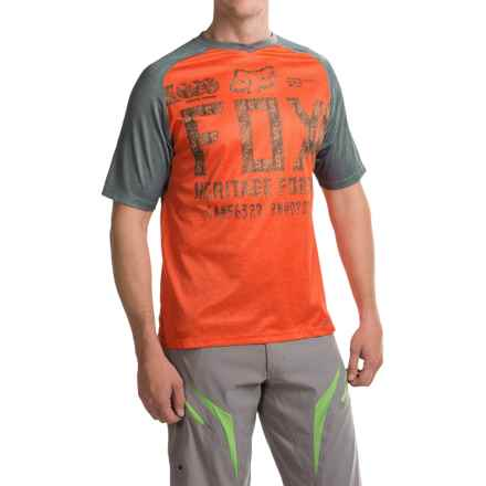 Fox Racing Indicator Jersey - Short Sleeve (For Men) in Charcoal/Orange - Closeouts