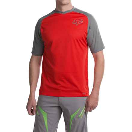Fox Racing Indicator Jersey - Short Sleeve (For Men) in Charcoal/Red - Closeouts
