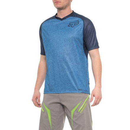 1b54db491 Fox Racing Indicator Jersey - Short Sleeve (For Women) in Heather Blue -  Closeouts