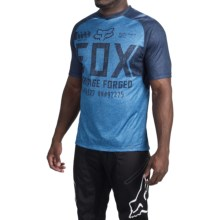 Fox Racing Indicator Logo Cycling Jersey - Short Sleeve (For Men) in Heather Blue - Closeouts