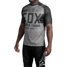 Fox Racing Indicator Logo Cycling Jersey - Short Sleeve (For Men) in Heather Grey - Closeouts