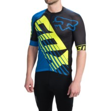 Fox Racing Limited Edition Savant Cycling Jersey - Full Zip, Short Sleeve (For Men) in Blue - Closeouts