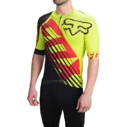 Fox Racing Limited Edition Savant Cycling Jersey - Full Zip, Short Sleeve (For Men) in Flo Yellow - Closeouts