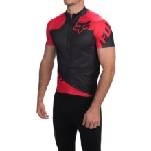 Fox Racing Livewire Cycling Jersey - Short Sleeve (For Men) in Black Red - Closeouts