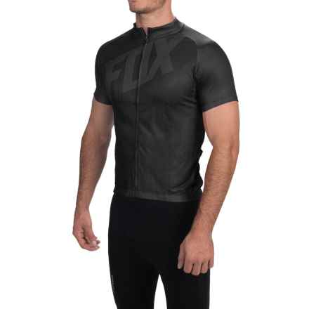 Fox Racing Livewire Cycling Jersey - Short Sleeve (For Men) in Black - Closeouts