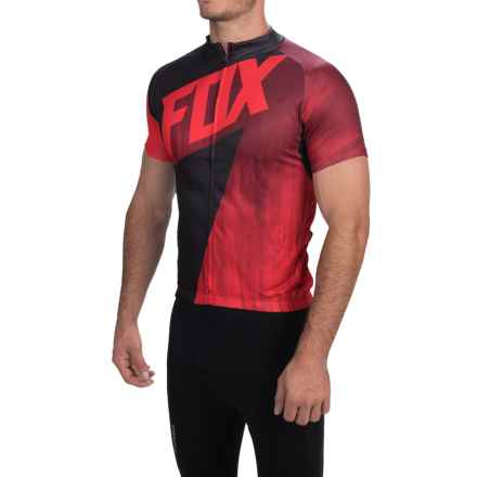 Fox Racing Livewire Cycling Jersey - Short Sleeve (For Men) in Red - Closeouts