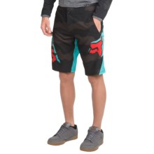 Fox Racing Livewire Cycling Shorts (For Men) in Black Camo - Closeouts