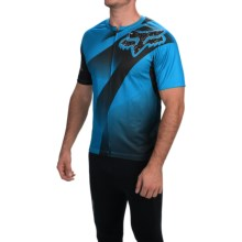 Fox Racing Livewire Descent Cycling Jersey - Short Sleeve (For Men) in Blue - Closeouts