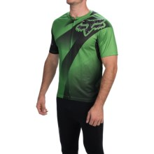 Fox Racing Livewire Descent Cycling Jersey - Short Sleeve (For Men) in Green - Closeouts
