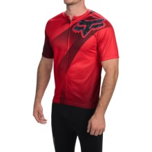 Fox Racing Livewire Descent Cycling Jersey - Short Sleeve (For Men) in Red - Closeouts
