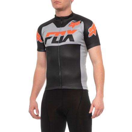 918cdcfb8 Fox Racing Livewire Race Mako Cycling Jersey - Short Sleeve (For Men) in  Grey