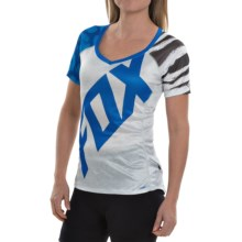 Fox Racing Lynx Cycling Jersey - Short Sleeve (For Women) in Blue/Grey - Closeouts