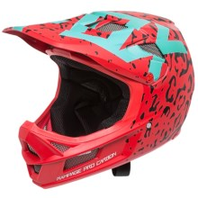 Fox Racing Rampage Pro Carbon Cauz Full Face Mountain Bike Helmet (For Men) in Red - Closeouts