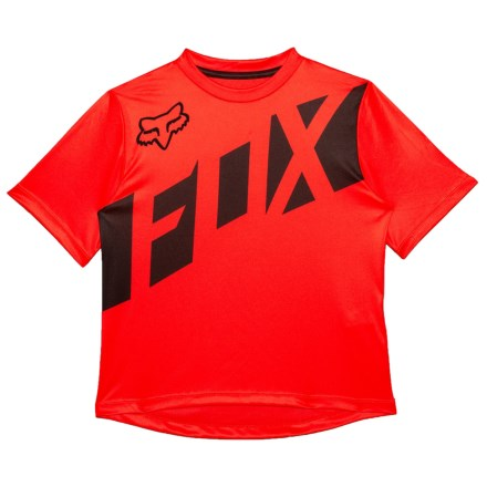 Fox Racing Ranger Cycling Jersey - Short Sleeve (For Kids) in Red Black 8bc60c276