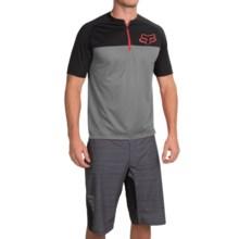Fox Racing Ranger Cycling Jersey - Zip Neck, Short Sleeve (For Men) in Grey - Closeouts