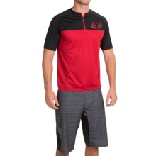 Fox Racing Ranger Cycling Jersey - Zip Neck, Short Sleeve (For Men) in Red - Closeouts