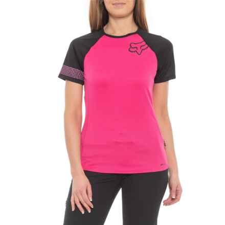 Fox Racing Ripley Mountain Bike Jersey - Short Sleeve (For Women) in Pink  0ed6dd70e