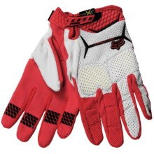 Fox Racing Unabomber Mountain Bike Gloves (For Men and Women) in Red/White - Closeouts
