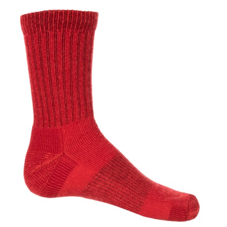 Fox River Apex Jr. Hiking Socks - Crew (For Little and Big Kids) in Red