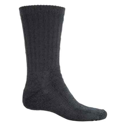 Fox River Backpacker Socks - Merino Wool Blend, Crew (For Men and Women) in Black - Overstock