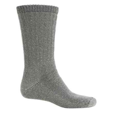 Fox River Backpacker Socks - Merino Wool Blend, Crew (For Men and Women) in Light Grey - Overstock