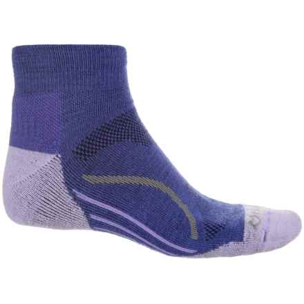 Fox River Basecamp Socks - Quarter Crew (For Men and Women) in Blue - Closeouts