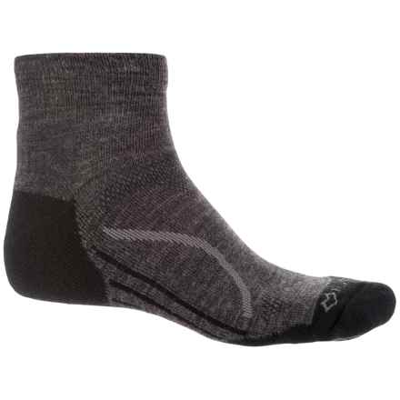 Fox River Basecamp Socks - Quarter Crew (For Men and Women) in Charcoal - Closeouts