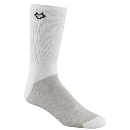 Fox River CoolMax® Socks - Crew (For Men and Women) in White - Closeouts