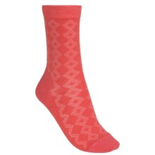 Fox River Diamond Pointelle Socks (For Women) in Hibiscus - Closeouts