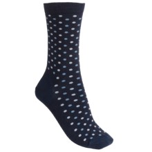 Fox River Dottie Socks - Merino Wool, Crew (For Women) in Navy - Closeouts