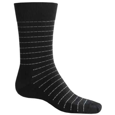 Fox River Everyday Pinstripe Socks - Merino Wool, Crew (For Men) in Black - Closeouts