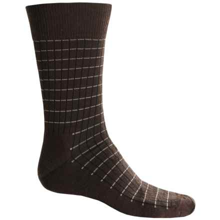 Fox River Everyday Pinstripe Socks - Merino Wool, Crew (For Men) in Chestnut - Closeouts