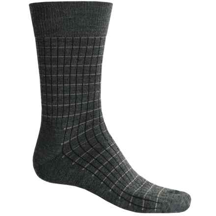 Fox River Everyday Pinstripe Socks - Merino Wool, Crew (For Men) in Dark Charcoal - Closeouts
