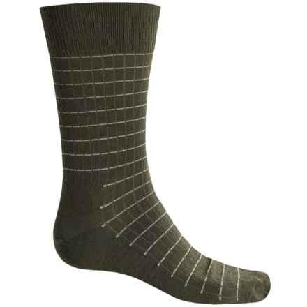 Fox River Everyday Pinstripe Socks - Merino Wool, Crew (For Men) in Moss - Closeouts