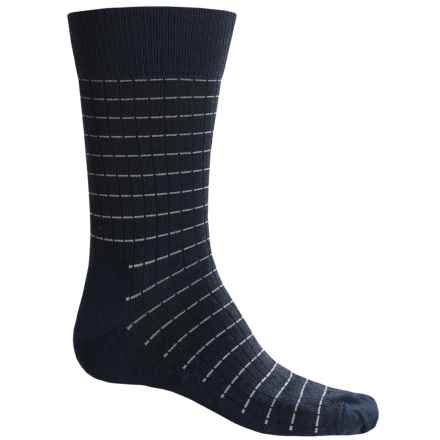 Fox River Everyday Pinstripe Socks - Merino Wool, Crew (For Men) in Navy - Closeouts