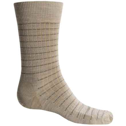 Fox River Everyday Pinstripe Socks - Merino Wool, Crew (For Men) in Oatmeal - Closeouts