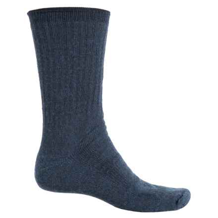 Fox River Full-Cushion Socks - Merino Wool Blend, Crew (For Men and Women) in Navy Heath - Overstock