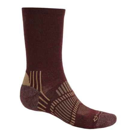 Fox River Light Socks - PrimaLoft®-Merino Wool, Crew (For Men and Women) in Brick/Taupe - Closeouts