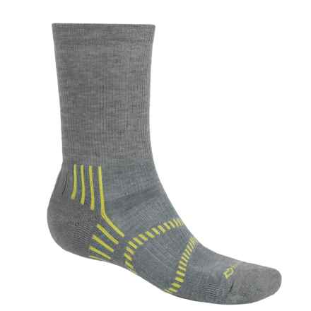 Fox River Light Socks - PrimaLoft®-Merino Wool, Crew (For Men and Women) in Fog/Lemon - Closeouts