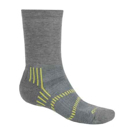Fox River Light Socks - PrimaLoft®-Merino Wool, Crew (For Men and Women) in Fog/Lemon - Closeouts