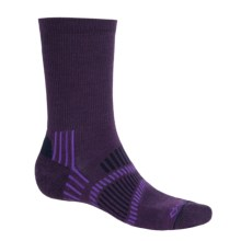 Fox River Light Socks - PrimaLoft®-Merino Wool, Crew (For Men and Women) in Grape/Purple/Navy - Closeouts