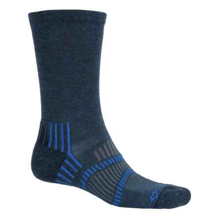 Fox River Light Socks - PrimaLoft®-Merino Wool, Crew (For Men and Women) in Navy Heather/Skydriver Blue - Closeouts